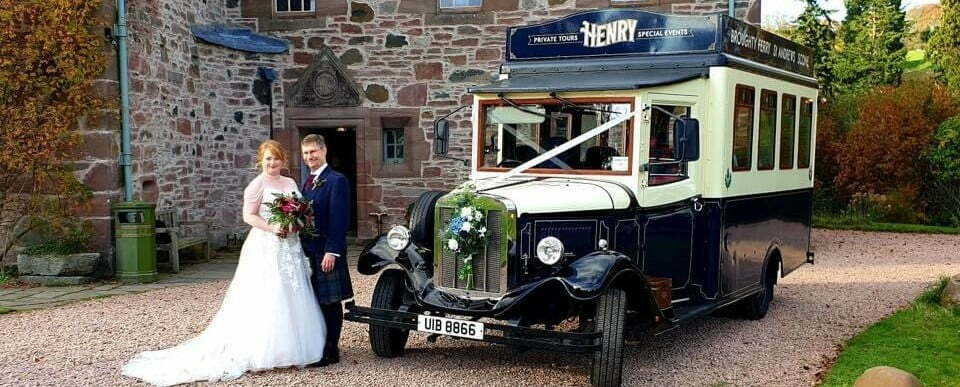 bride & groom with Henry